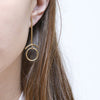 Brass Gravity Shapes Stud Earrings