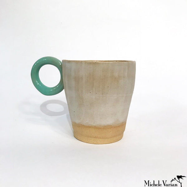 Round Handle Stoneware Cup