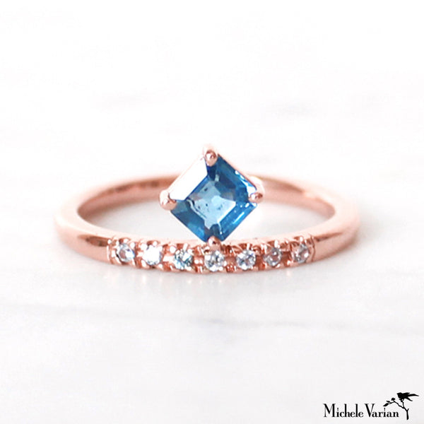 Rose Gold Sapphire Ring