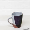 Blot Painted Clay Mug Black