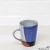 Blot Painted Clay Mug Cobalt