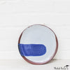 Blot Painted Clay Small Plate in Cobalt