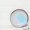 Blot Painted Clay Small Plate in Pale Blue