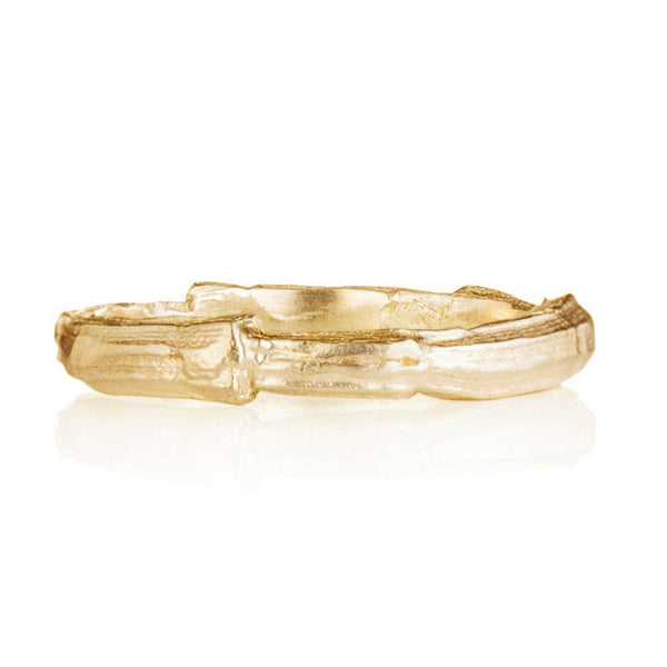 Gold Textured Mens Band