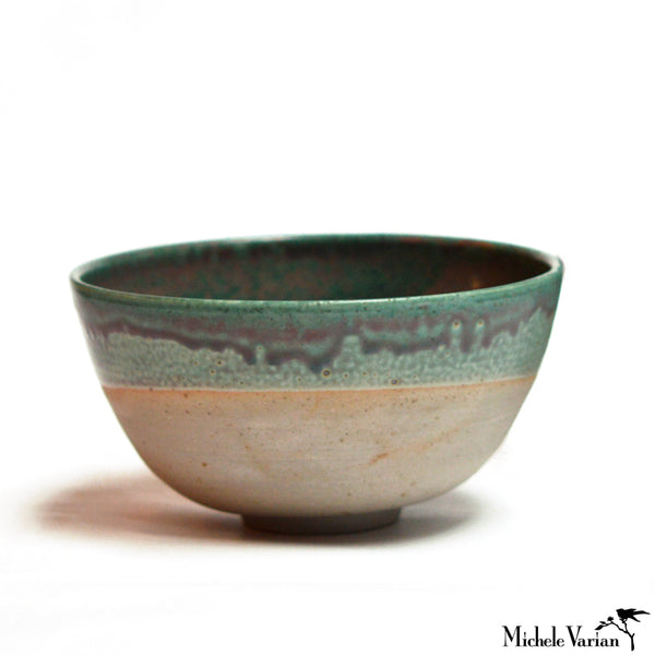 Stoneware Bowl With Teal Glaze