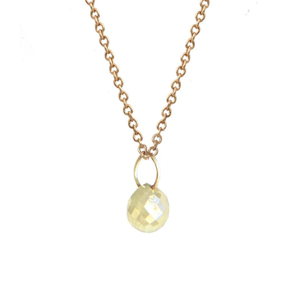 Rose Gold Tiny Constellation Drop Necklace with Yellow Grey Diamond
