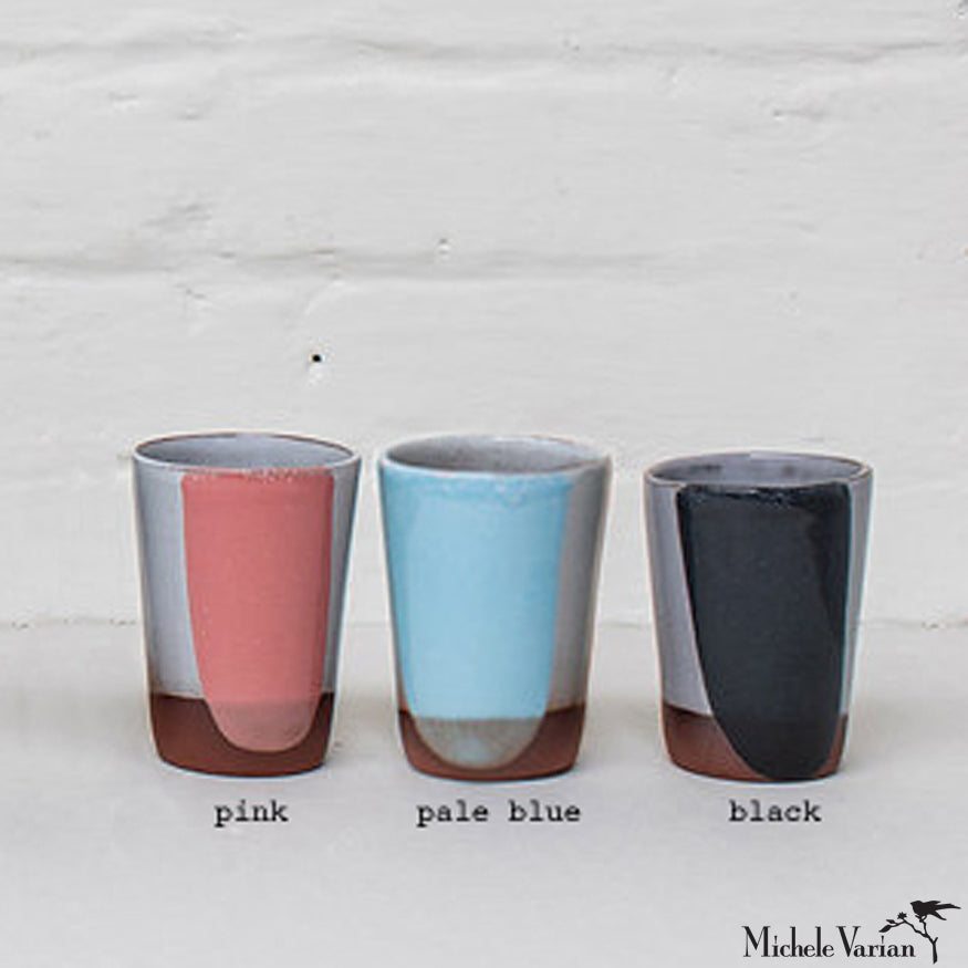 Blot Painted Clay Tumbler