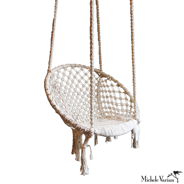 Recycled Fiber Swing Chair Off White