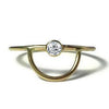 Gold Arc Ring With White Sapphire