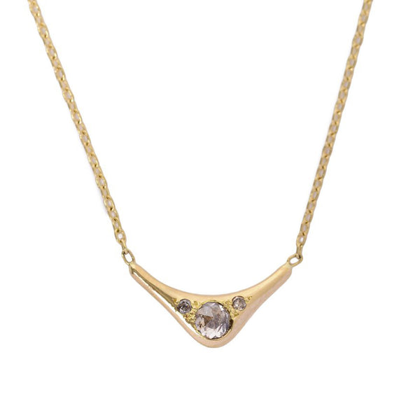 Diamond Wave Necklace
