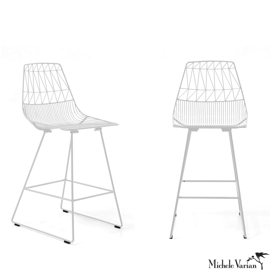 White Wire Stool Bar Height