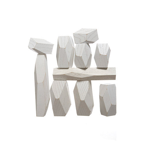 White Wood Balancing Blocks