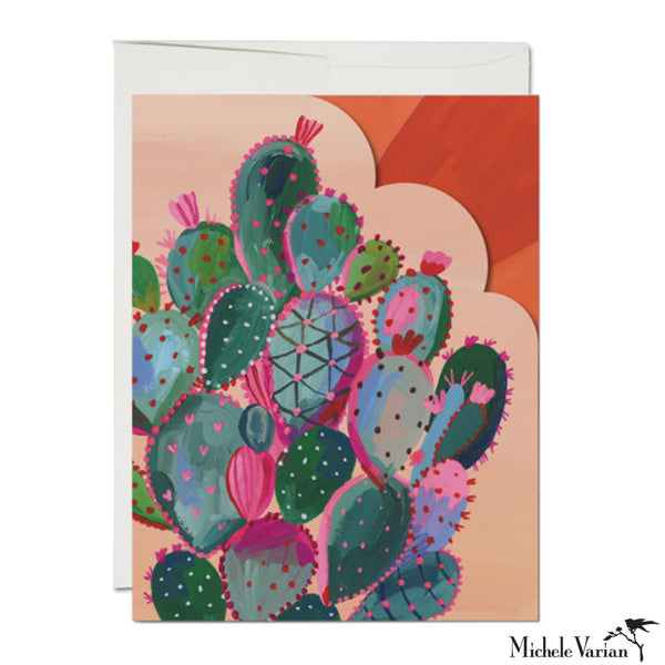 Magnificent Cactus Sunset Die Cut Card