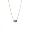 Mini Emerald Cut Iolite Necklace