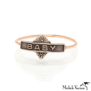 Mixed Metal Baby Ring