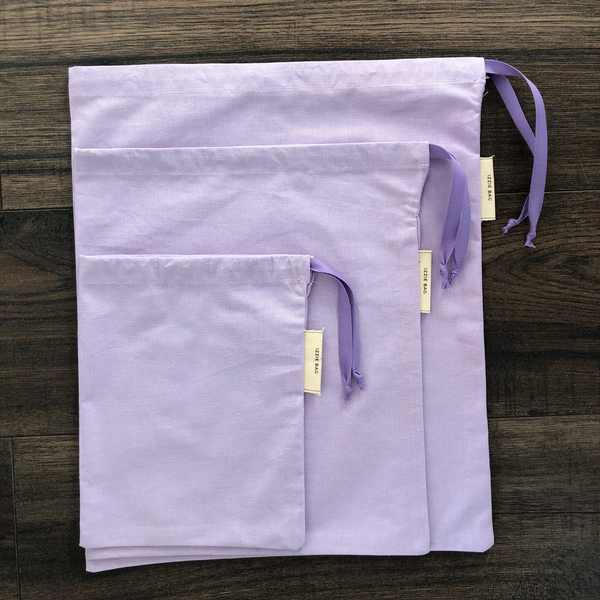 "Set of 3 ""Purple Cotton Bags"""