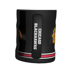 NHL Chicago Blackhawks Sculpted Relief Mug, 14-Ounce : Sports Fan Coffee Mug