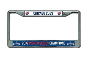 "MLB Chicago Cubs World Series Chrome Frame, 12"", Blue"