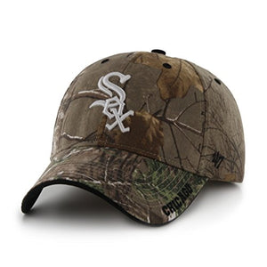 '47 MLB Chicago White Sox Frost MVP Camo Adjustable Hat, One Size Fits Most, Realtree Camouflage