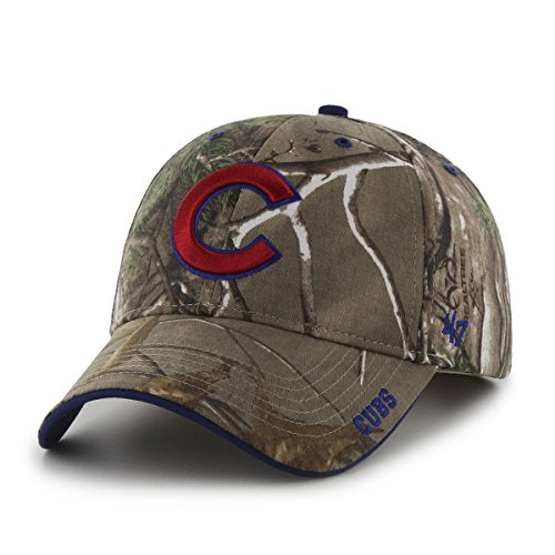 MLB Chicago Cubs '47 Frost MVP Camo Adjustable Hat, One Size Fits Most, Realtree Camouflage