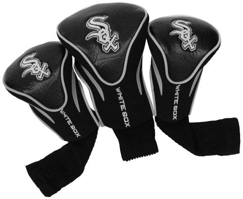 MLB Chicago White Sox Contour Golf Club Headcovers (3 Count), Numbered 1, 3, & X, Fits Oversized Drivers, Utility, Rescue & Fairway Clubs, Velour lined for Extra Club Protection : Sports Fan Golf Club Head Covers