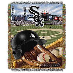"The Northwest Company MLB Chicago White Sox Home Field Advantage Woven Tapestry Throw, 48"" x 60 : Sports Fan Throw Blankets"