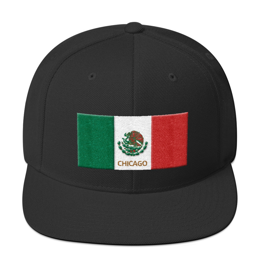 Mexico Flag - Chicago Snapback Hat