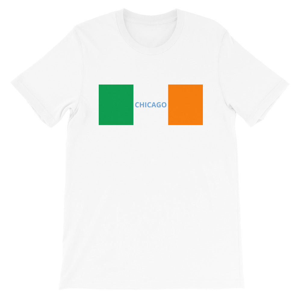 Ireland Flag - Chicago Short-Sleeve Unisex T-Shirt