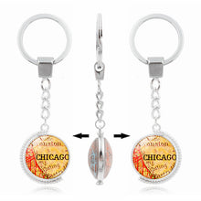 Load image into Gallery viewer, Chicago Map Double Sided Keychain