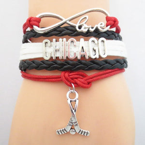 Infinity Love Chicago Sports Bracelet