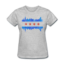Load image into Gallery viewer, Chicago Flag Skyline T-Shirt