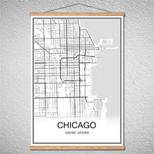 Load image into Gallery viewer, Modern World Chicago City Map