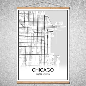 Modern World Chicago City Map