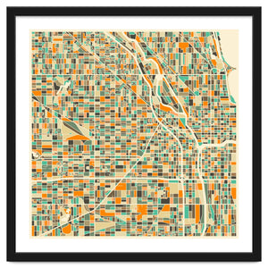 Chicago Map Art Print (Unframed)