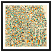 Load image into Gallery viewer, Chicago Map Art Print (Unframed)