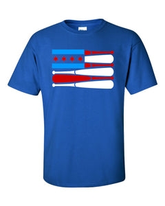 Chicago Baseball American Flag T-Shirt
