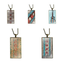 Load image into Gallery viewer, EJ Glaze Old Chicago Flag Pendant Rectangle Necklace