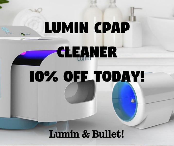 Lumin Bullet CPAP Hose Cleaner [Uses Light to Clean, No Ozone]