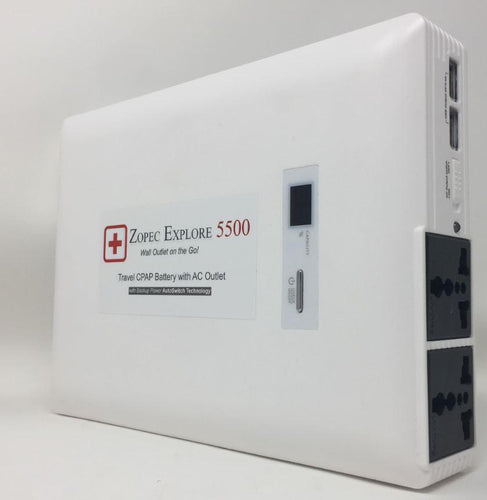 Zopec Explore 5500 UPS CPAP Battery (54,000 mAh, Gold UPS Level ) - 2021 Model!