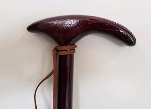 exotic wooden cane