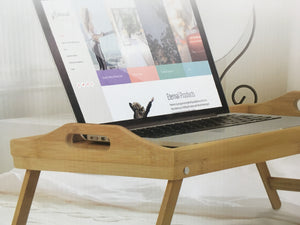 bamboo folding bed breakfast tray