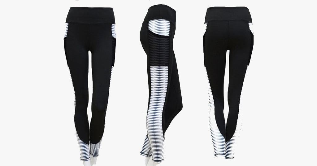 High Waist Workout Pocket Leggings Sports Pants
