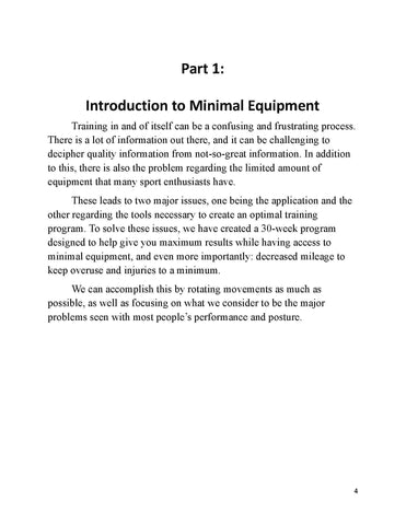 Minimal Equipment Manual