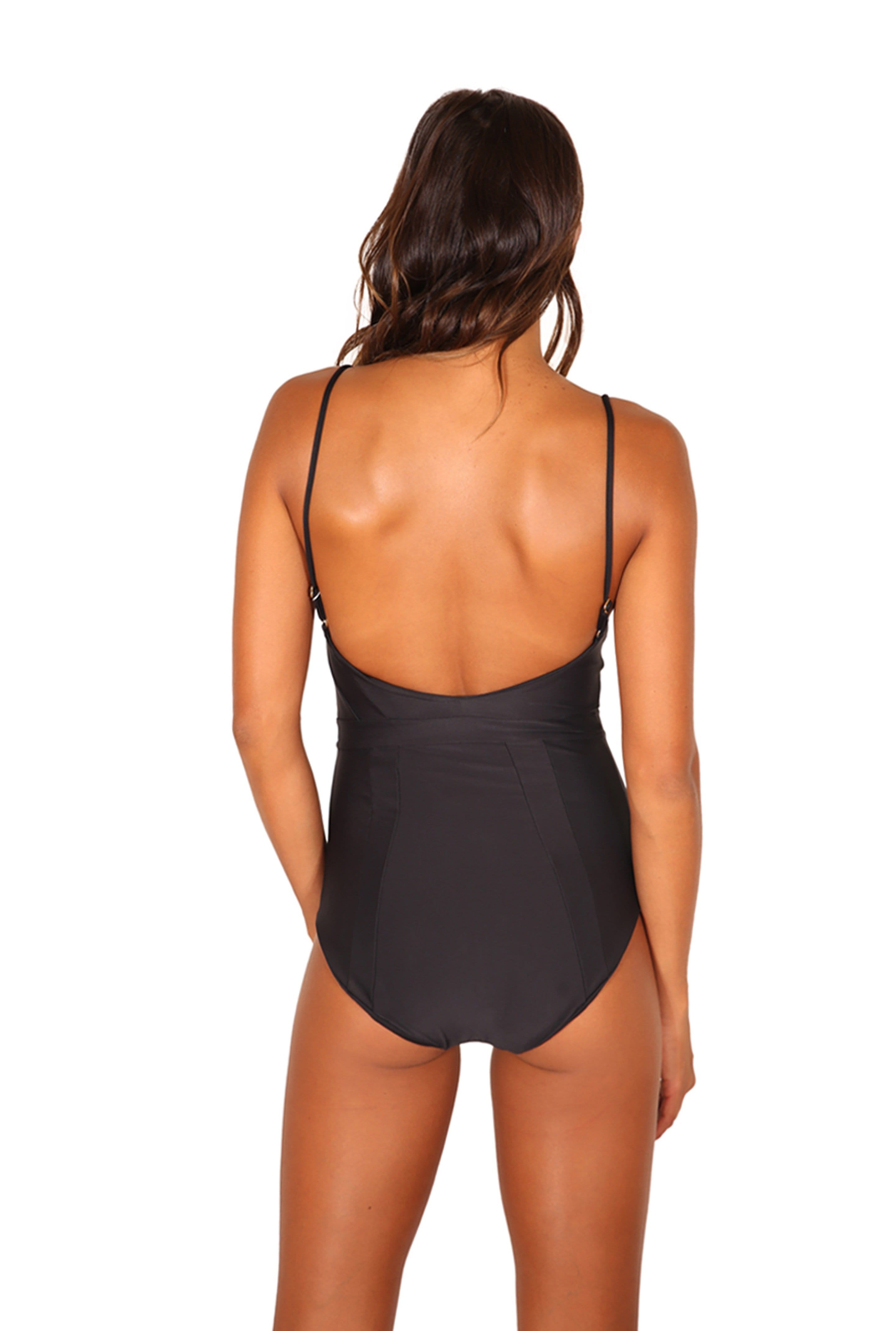 HANA ONE PIECE BLACK SWIM  FULL CUT