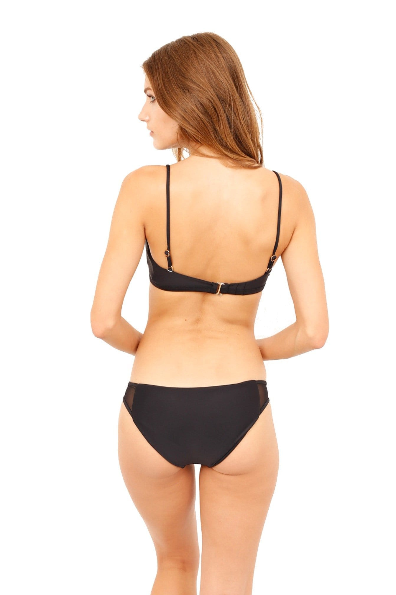 *SALE* KAILI BOTTOM BLACK SWIM  (FULL COVERAGE)