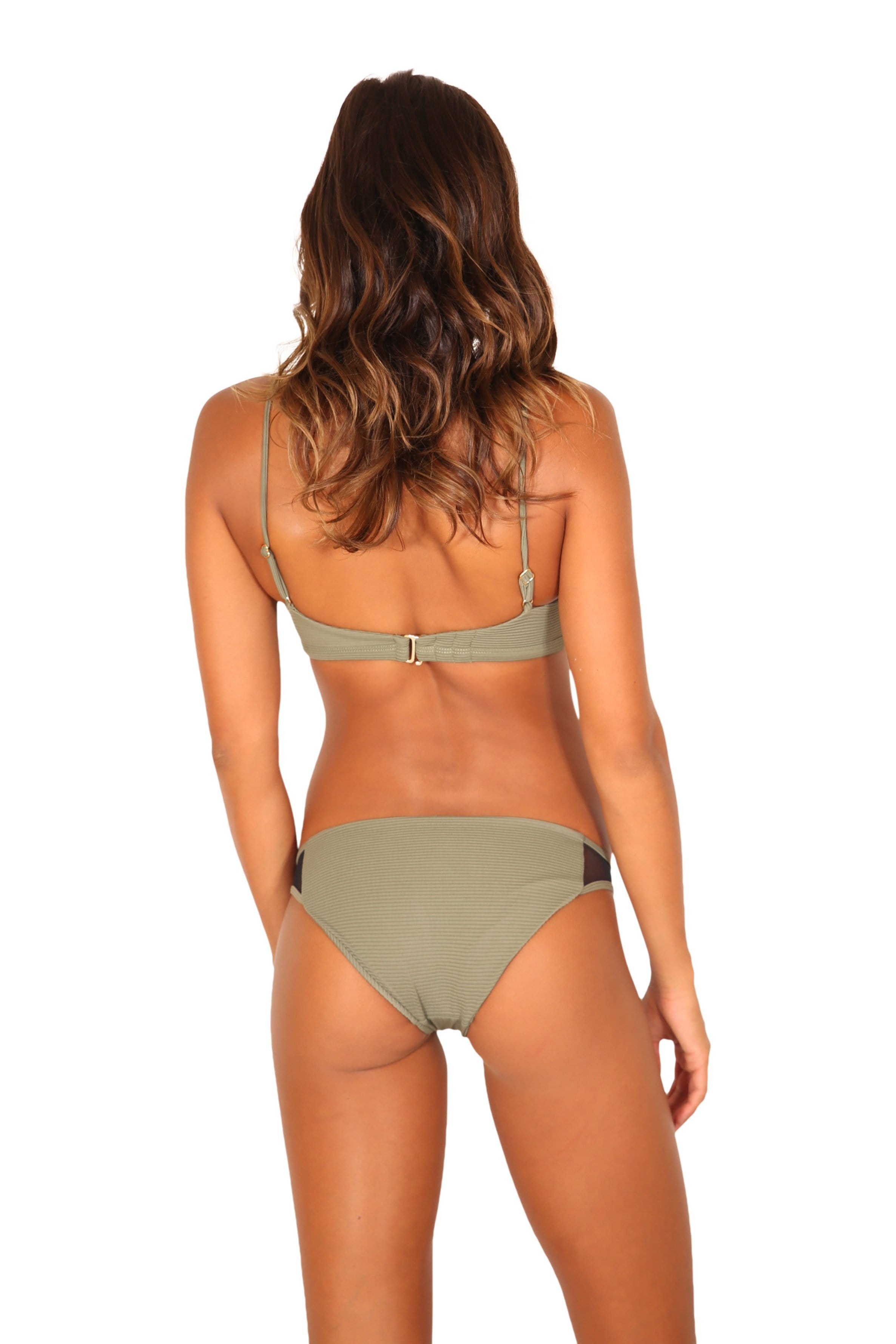 KAILI BOTTOM OLIVE RIB (FULL COVERAGE)