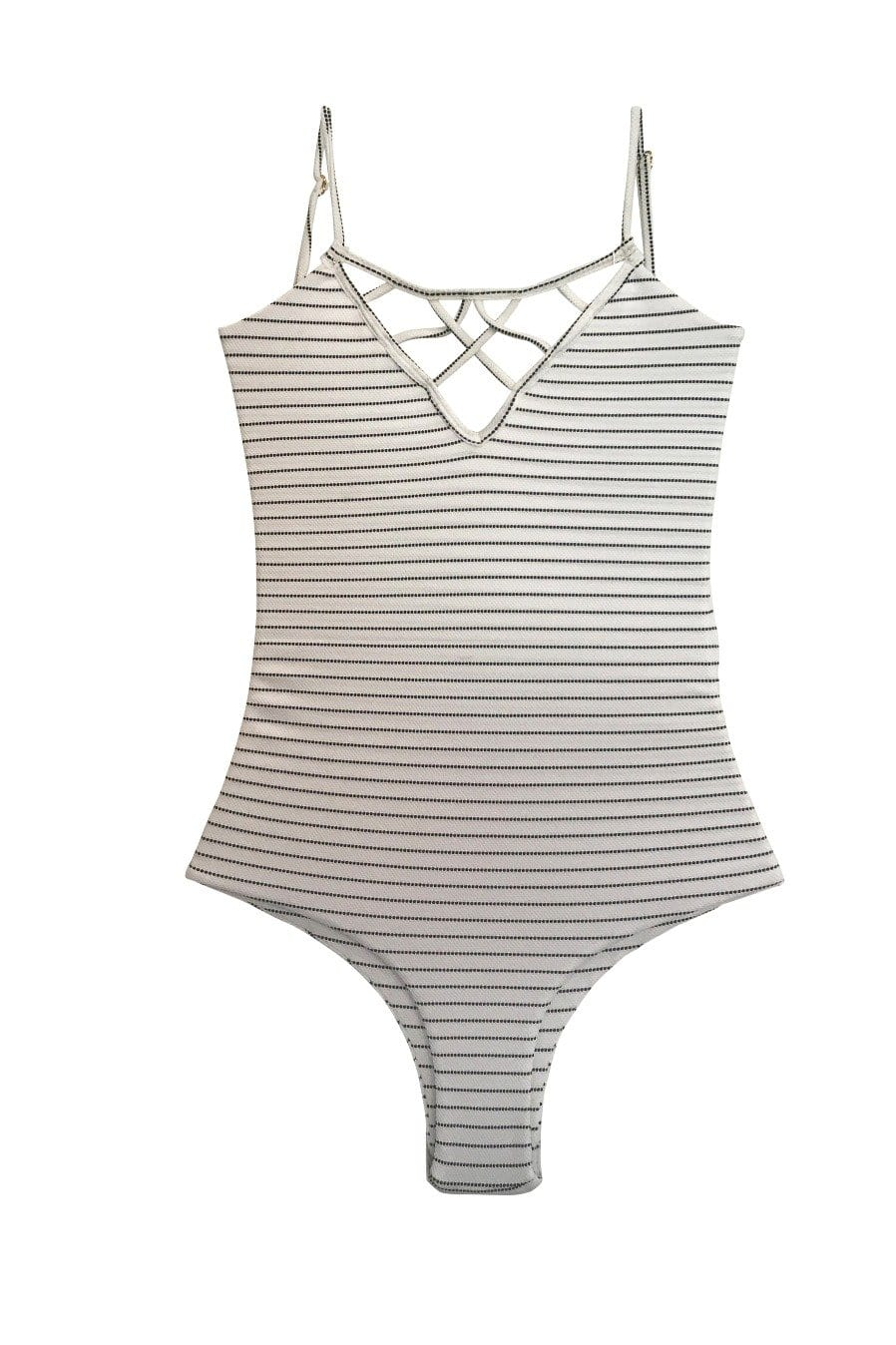 Sale Sao Paulo One Piece Cheeky Coastal Stripe was $168