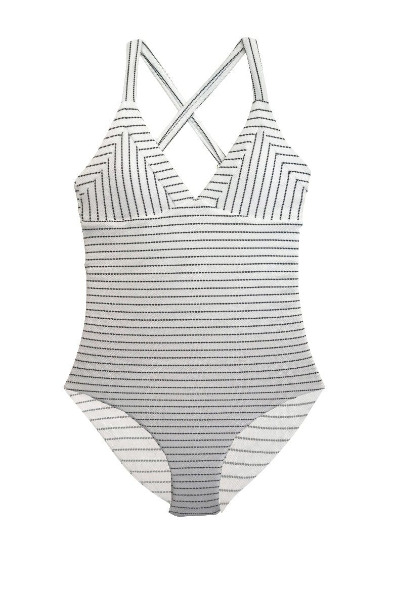 Kailua One Piece Full Coastal Stripe
