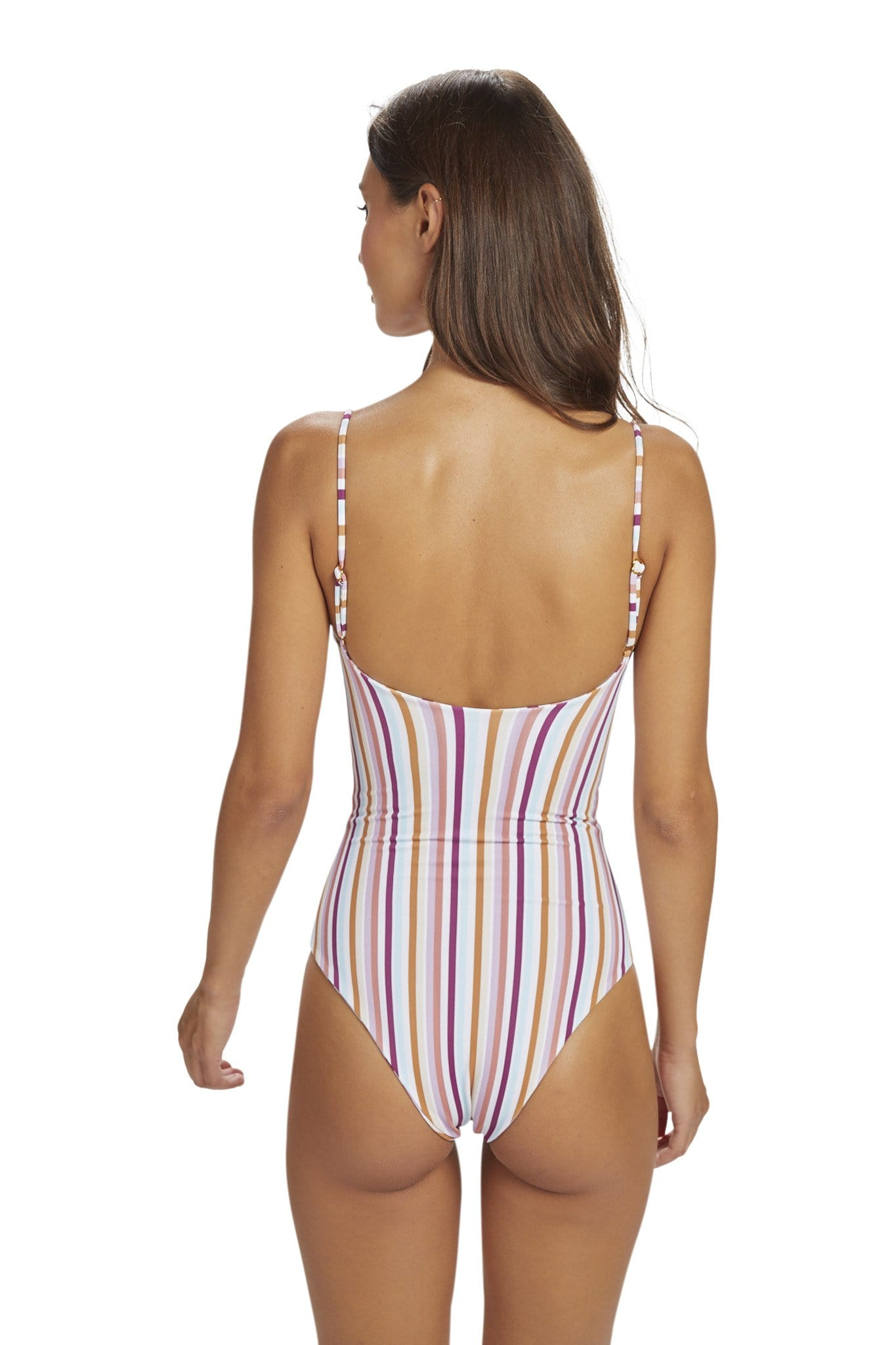 Lehua One Piece Cheeky Summer Stripe