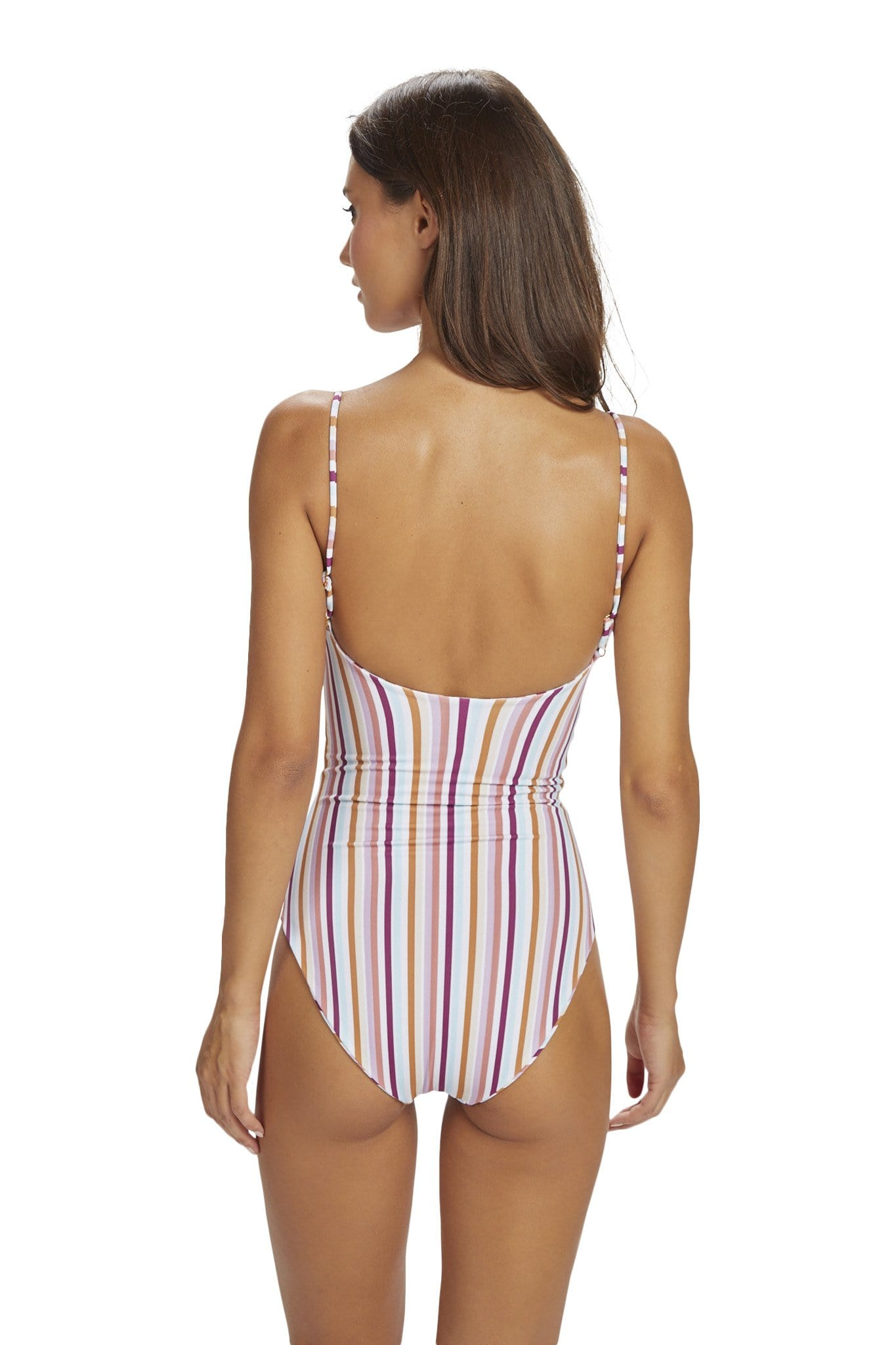 Lehua One Piece Full Coverage Summer Stripe